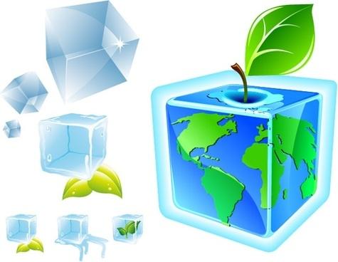 Ice cube vector
