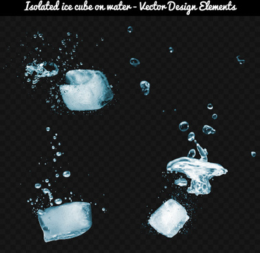 ice cube with water vector background