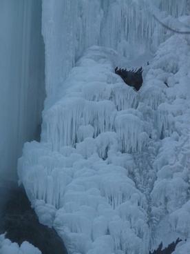 ice formations urach waterfall waterfall
