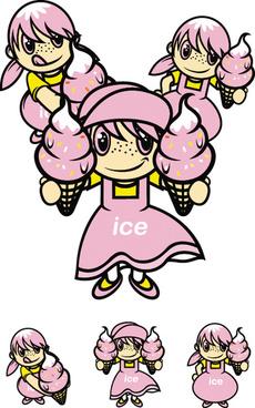 ice girl vector