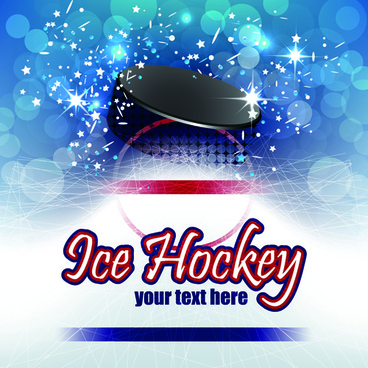 ice hockey creative poster vector