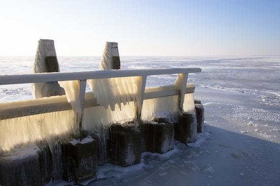 ice ijsselmeer winter