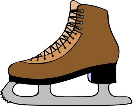 Ice Skate Shoe clip art