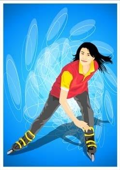 ice skating vector 1