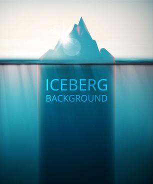 iceberg with sunlight vector background