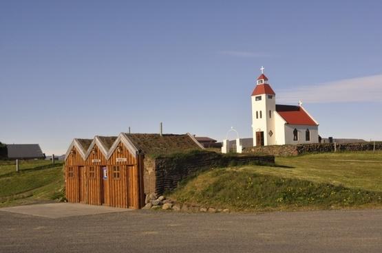 iceland village church