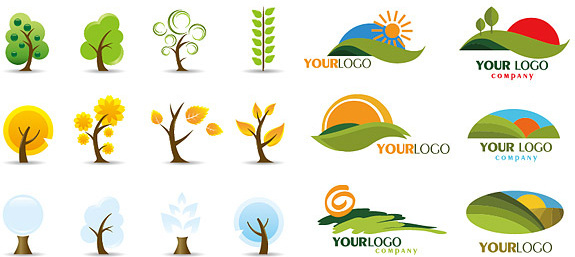 icon and logo trees vector