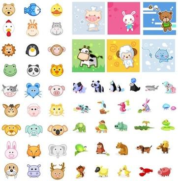 icon daquan animal articles vector