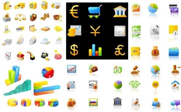 icon daquan financial articles vector