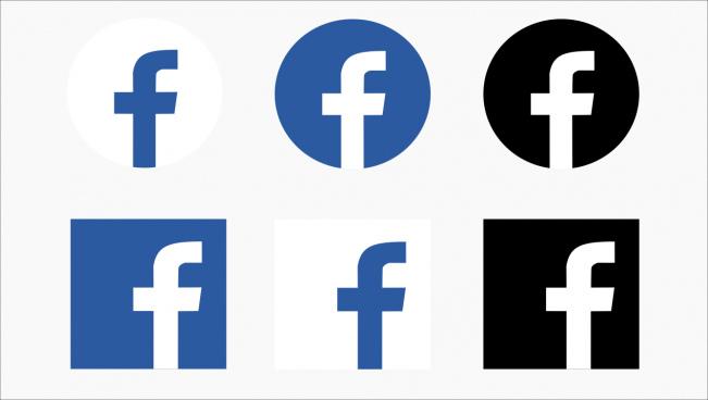 icon facebook vector free