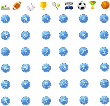 icon go sports articles vector