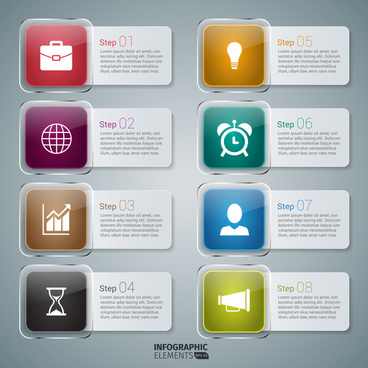 icon infographic banner design elements