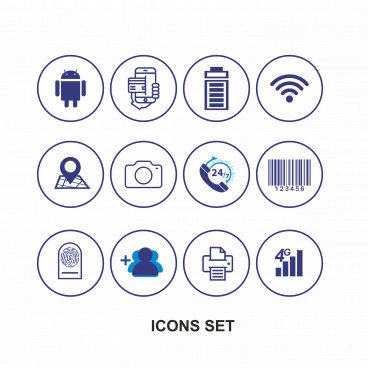 icon set for mobile feature