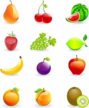 Icon Set, Fruits