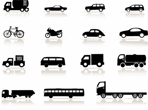 Icon set, Vehicles