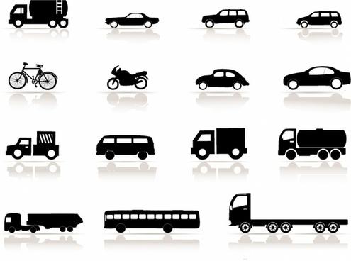 Icon set, Vehicles