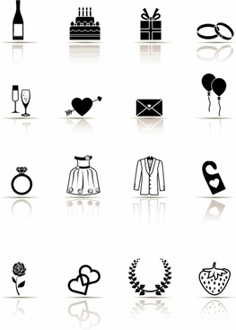 Icon Set, Wedding