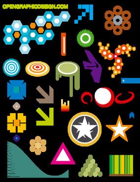 icons and symbols art graphics