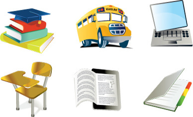 icons based on school and learning