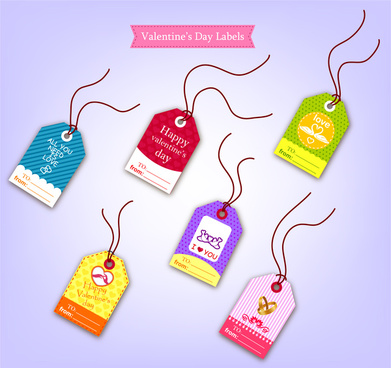 icons sets of valentine labels tags