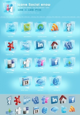 Icons Social snow icons pack
