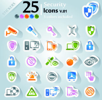 icons stickers vector