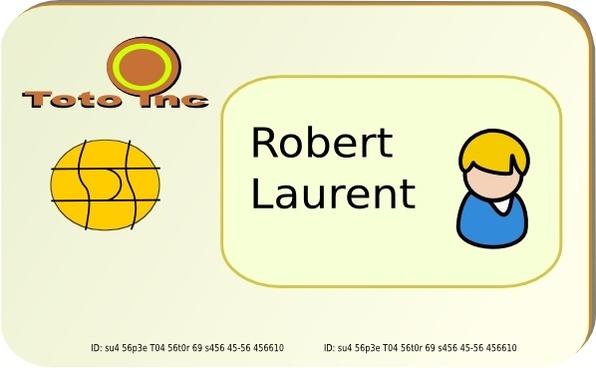 Id Card clip art