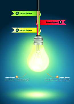 idea infographics with bulb vector graphic