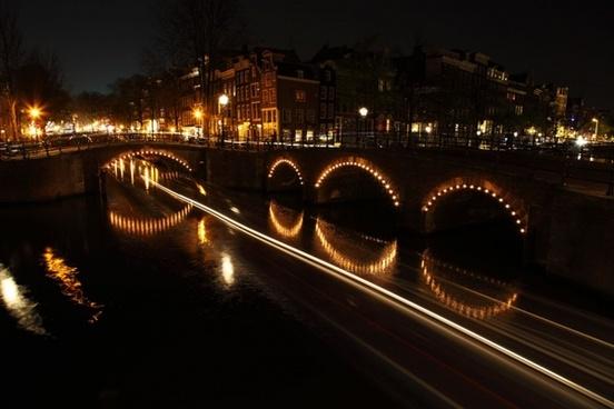 illuminated bridges