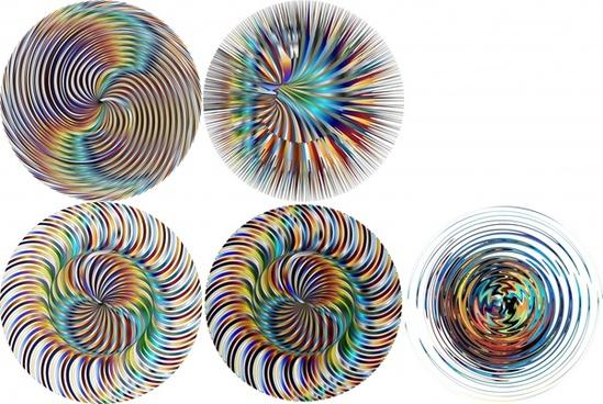 illusion kaleidoscope pattern circle sets