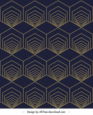 illusion pattern repeating symmetric polygonal shapes