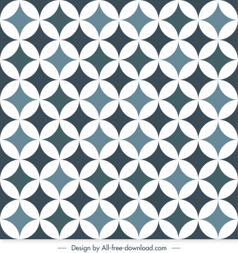 illusion pattern template repeating symmetric circles combination