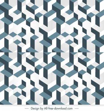 illusion pattern template symmetrical geometry seamless shapes