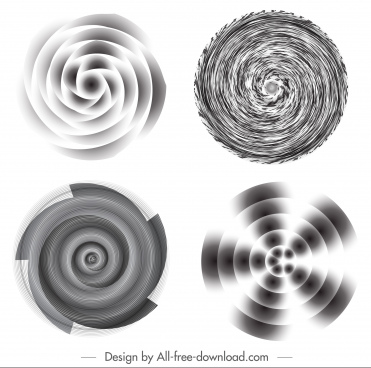 illusive decor templates twisted motion black white decor