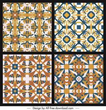 illusive pattern templates classical repeating symmetric seamless decor
