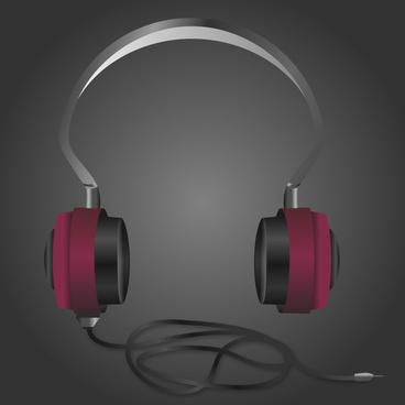 illustrated detailed music headphones