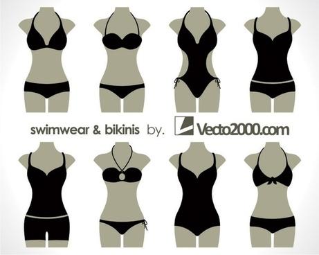 Illustration vector of swimwear and bikinis