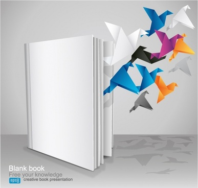 knowledge background dynamic origami paper cranes book sketch