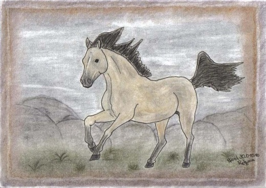 image painting mustang