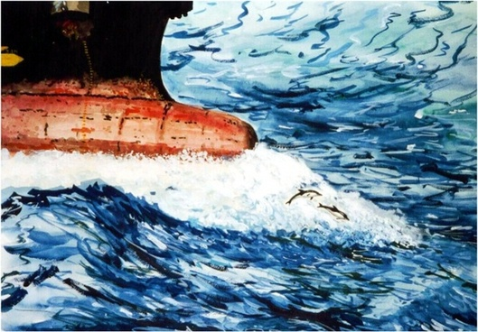 image painting ship