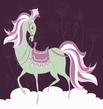 imposing horse painting colored classical design