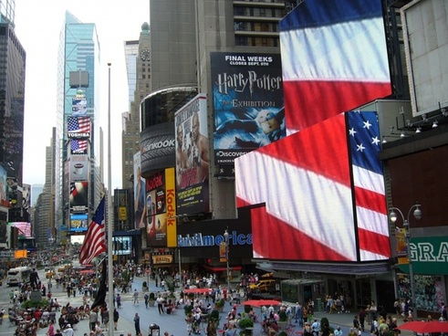 in new york city times square boost