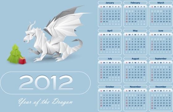 in pterosaurs calendar 2012 02 vector