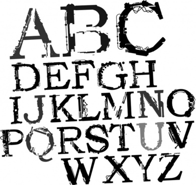 alphabet background artistic black white capital lettering decor