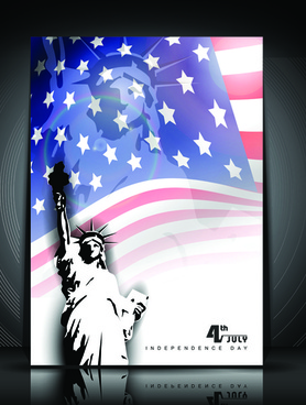 independence day july 4 design elements vector