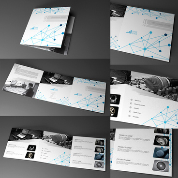 indesign trifold brochure 20x20cm indd cs6 and indl