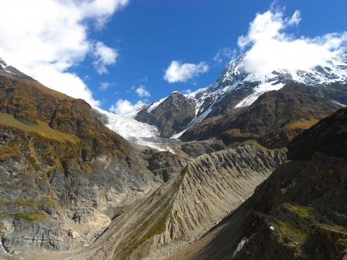 india glacier mountains