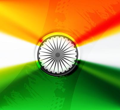 indian flag fantastic tricolor grunge wave