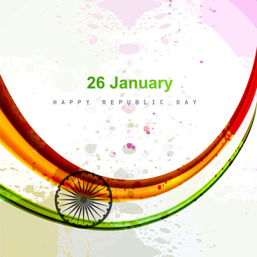 indian flag indian republic day and independence day illustration tricolor stylish wave vector