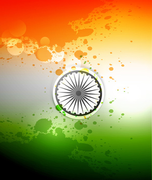 indian flag stylish illustration for independence day background vector